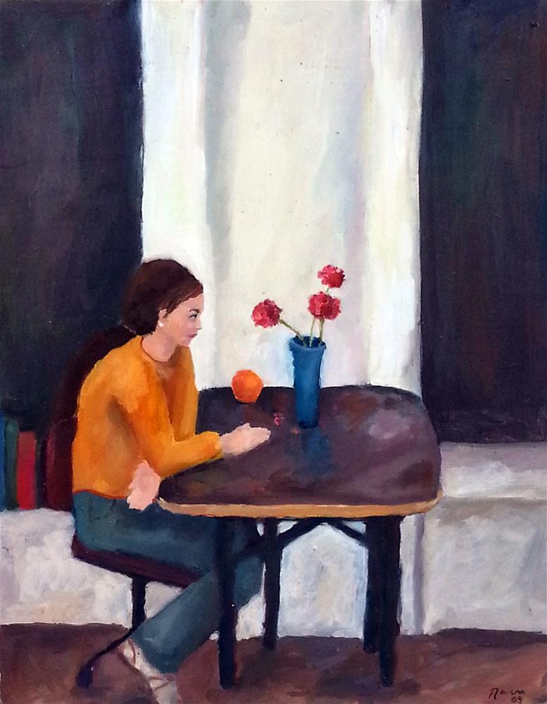 """My Sister"" original fine art by Nava Judith"