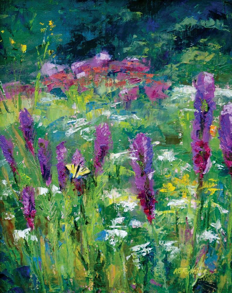 """Prairie Liatris"" original fine art by Kathleen Gray Farthing"