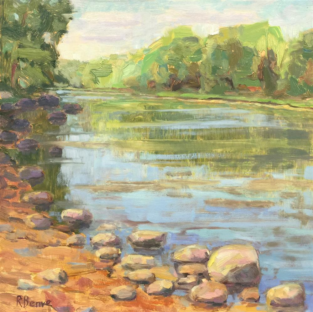 """Scioto River"" original fine art by Robie Benve"