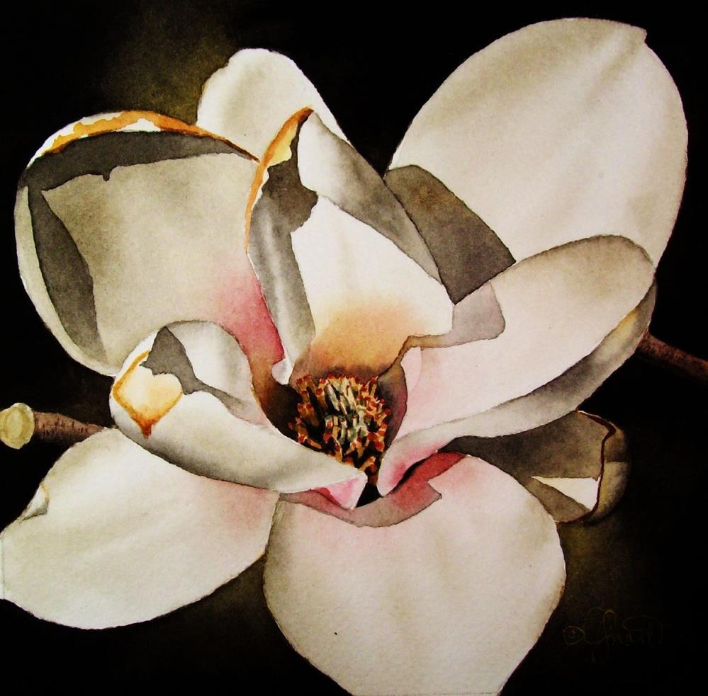 """Magnolia in Bloom"" original fine art by Jacqueline Gnott, whs"