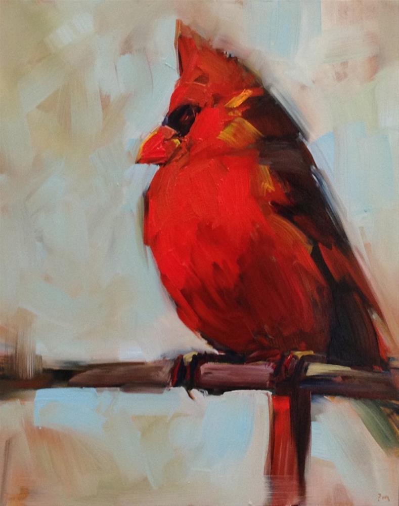 """Royal Red"" original fine art by Patti McNutt"
