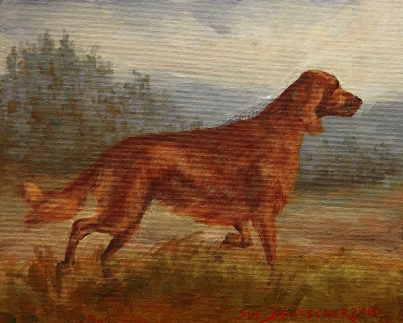 """""""Irish Setter"""" original fine art by Sue Deutscher"""
