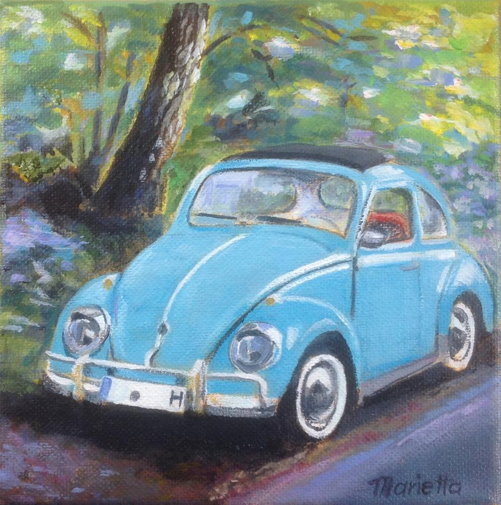 """ Bug "" original fine art by Marietta Modl"