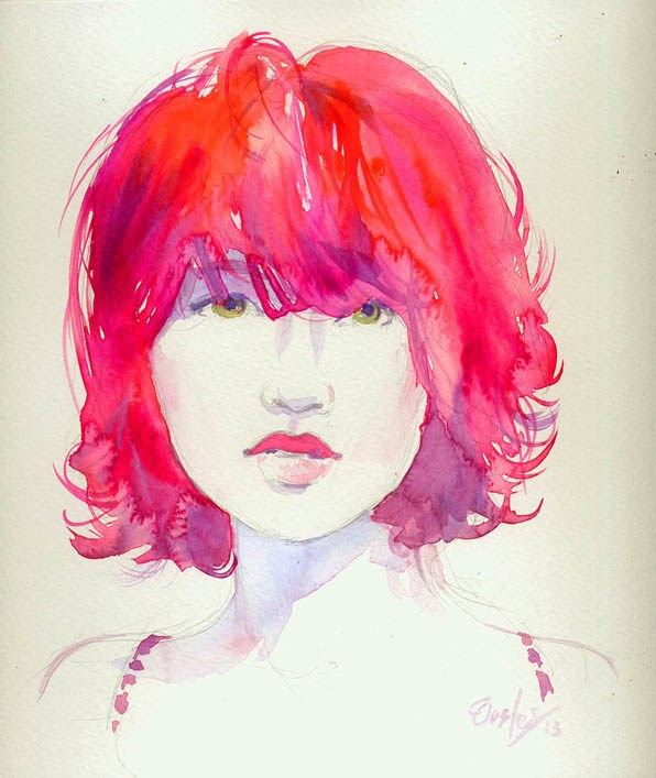 """Magenta"" original fine art by Chris Ousley"