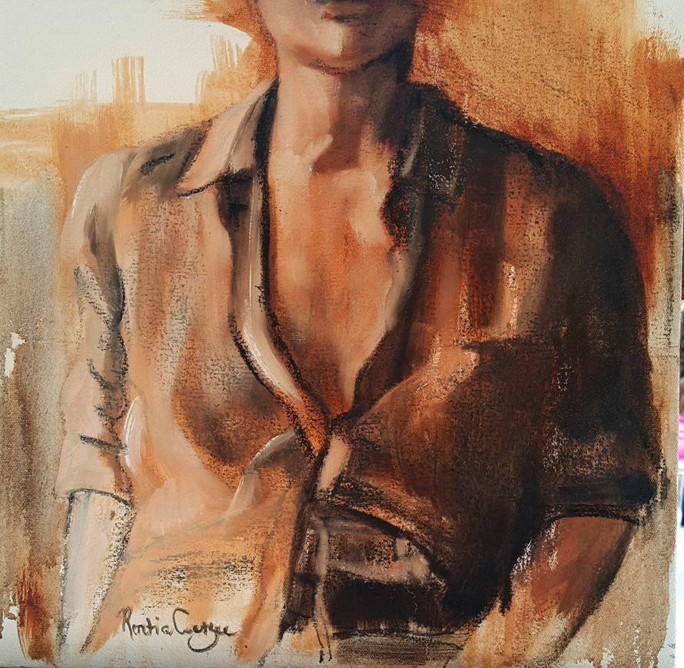 """""""Incognito"""" original fine art by Rentia Coetzee"""