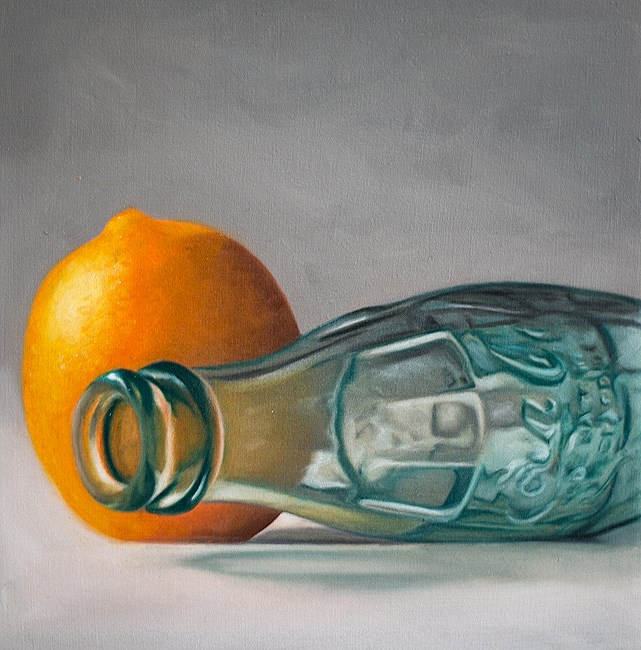 """Cola Bottle and Lemon"" original fine art by Lauren Pretorius"