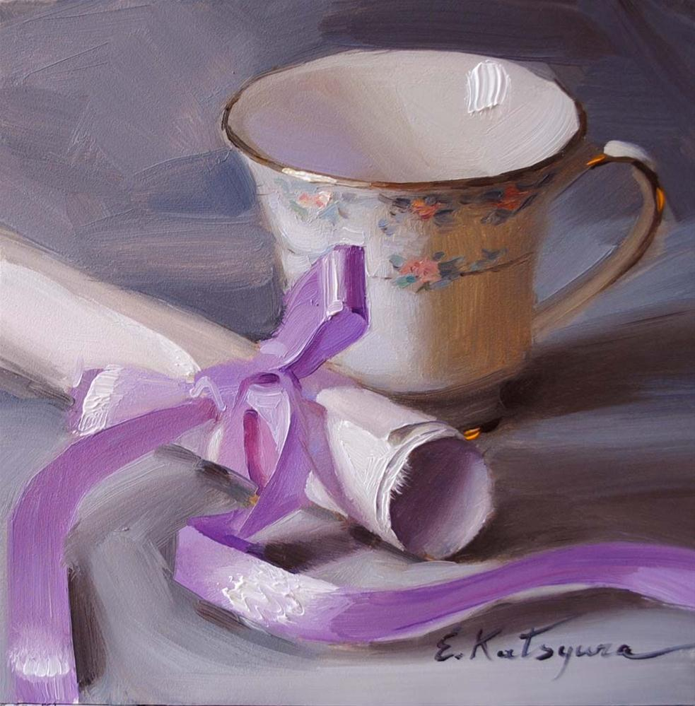 """Lilac Ribbon"" original fine art by Elena Katsyura"
