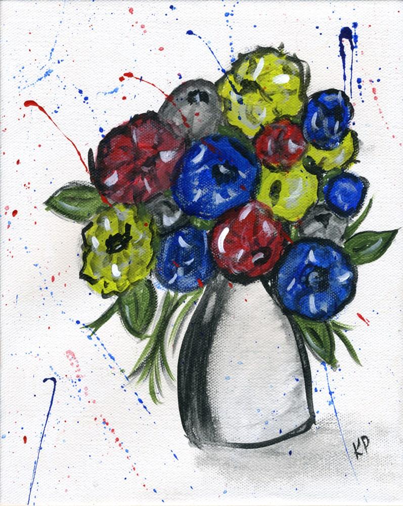 """""""Whimsical Bouquet"""" original fine art by Kali Parsons"""