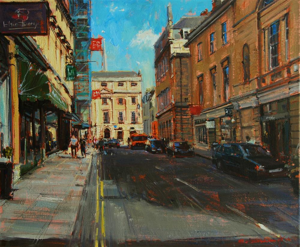 """Raking Light, Quiet Street, Bath"" original fine art by Adebanji Alade"