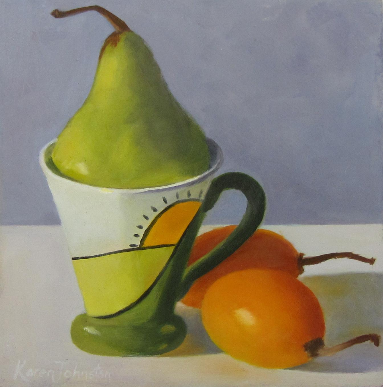"""Green and Gold"" original fine art by Karen Johnston"