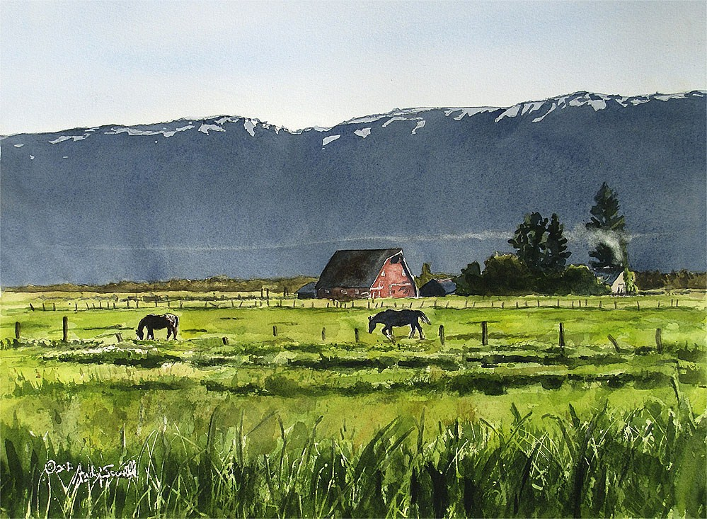 """Long Valley Afternoon"" original fine art by Andy Sewell"