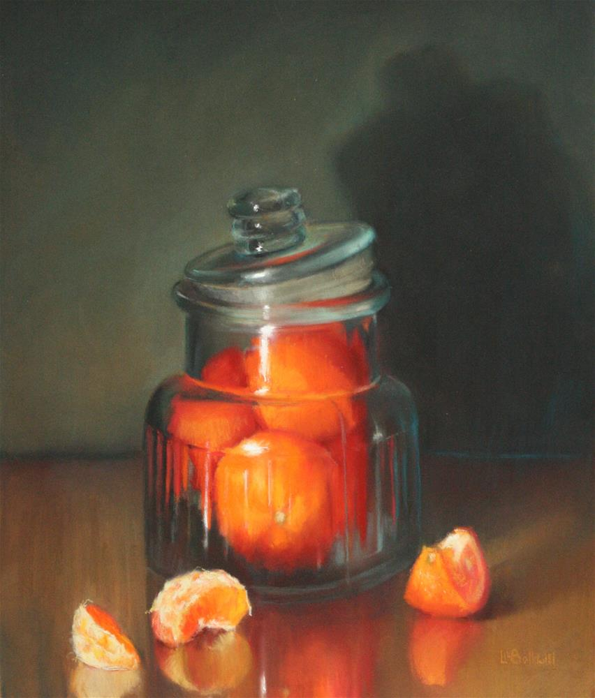 """Peeled, sliced and jarred"" original fine art by Liz Balkwill"