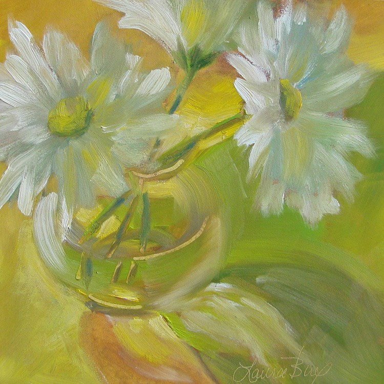 """Let The Light Shine Through 441"" original fine art by Laura  Buxo"