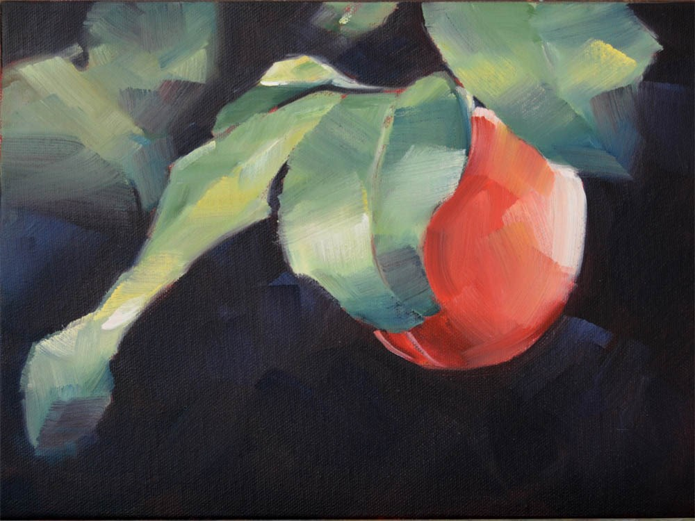 """One Red Plum"" original fine art by Cheryl Wilson"