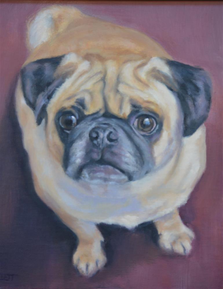 """The Pug"" original fine art by Tracy Klett"