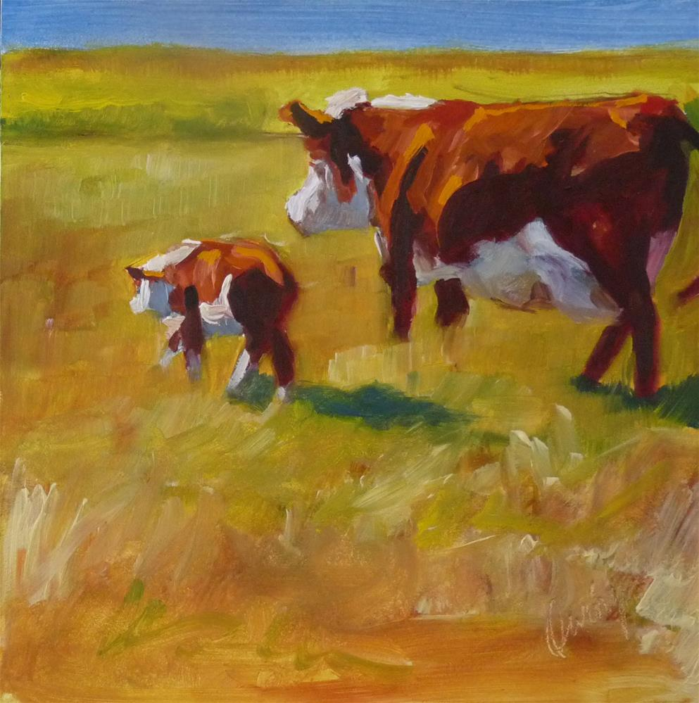 """Di's Herd"" original fine art by Sharman Owings"