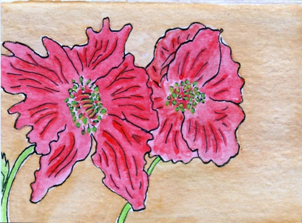 """Poppies"" original fine art by Susan Medyn"