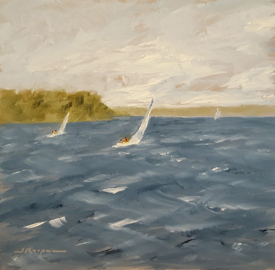 """Whitecaps on Smith Mountain Lake"" original fine art by Shelley Koopmann"