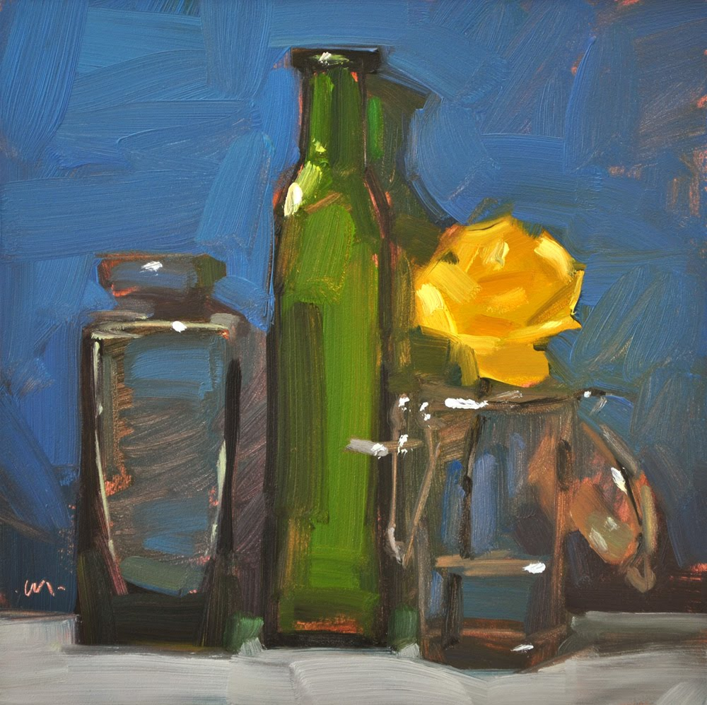 """Dainty in Glass"" original fine art by Carol Marine"