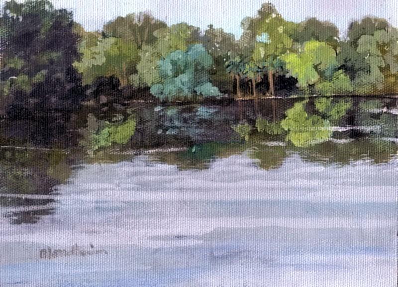 """Lake"" original fine art by Linda Blondheim"