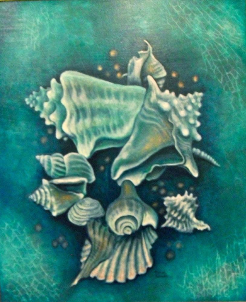 """Shapely Shells"" original fine art by Karen Roncari"