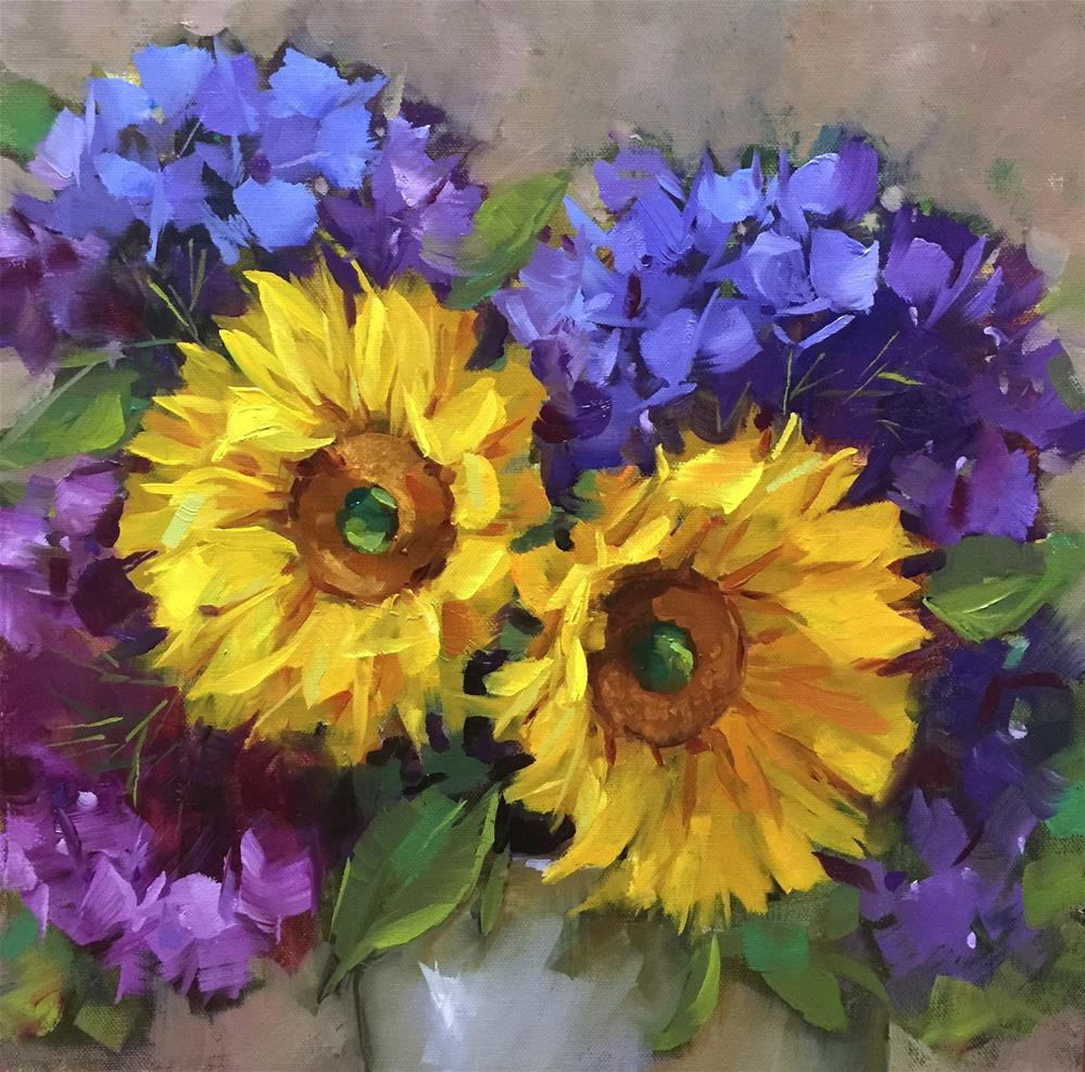 """Italian Sunnies and Two Days Until Painting Brilliant Colors"" original fine art by Nancy Medina"