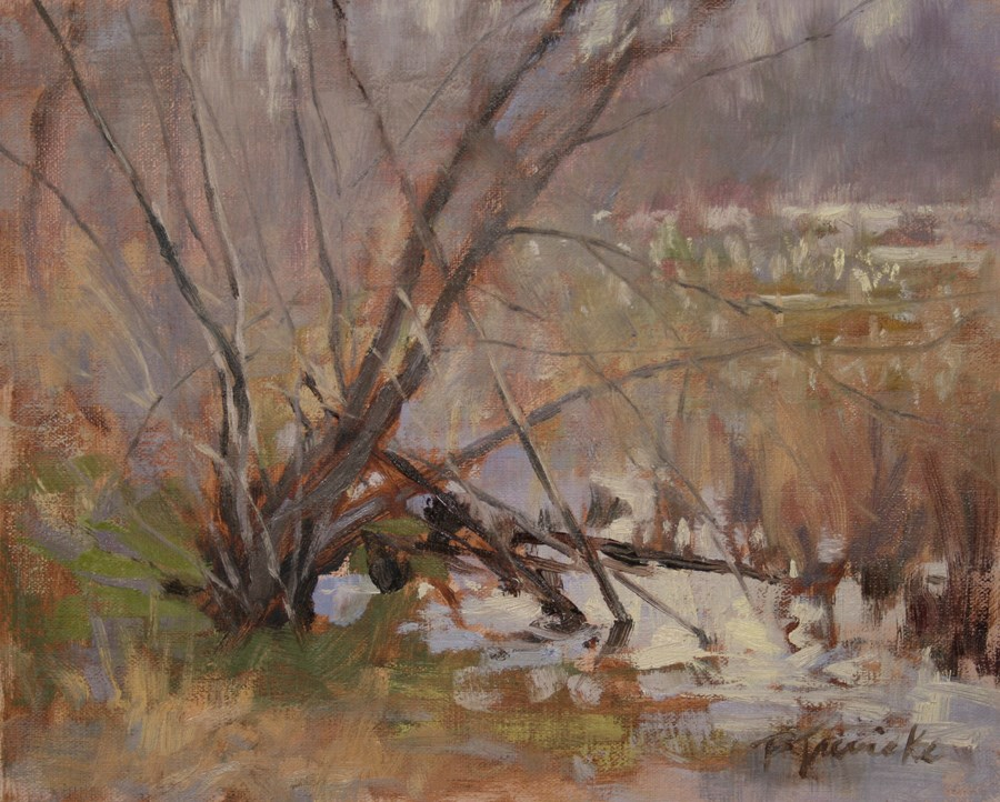 """Misty March Reflections"" original fine art by Barbara Jaenicke"