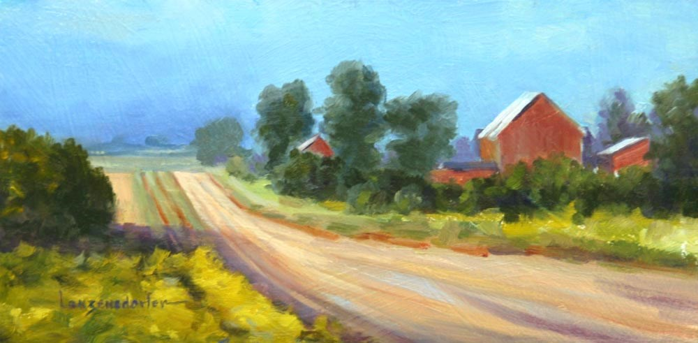 """VALLEY ROAD"" original fine art by Dj Lanzendorfer"