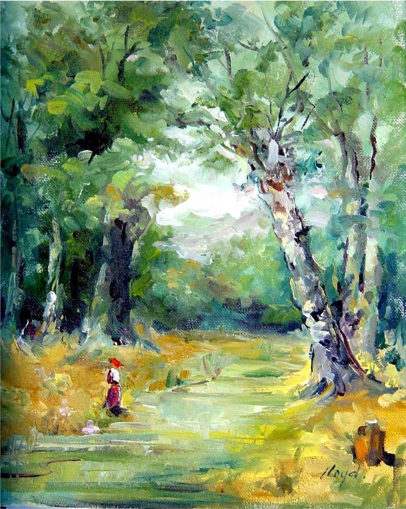 """A Walk in the Woods"" original fine art by Diane Lloyd"