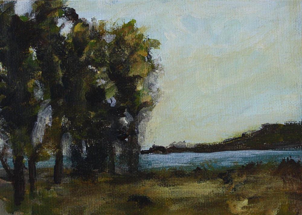 """Trees Near Water"" original fine art by Shannon Bauer"