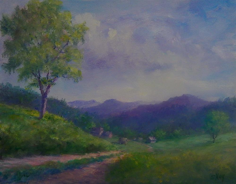 """Down in the Valley"" original fine art by Sharon Kay Baker"