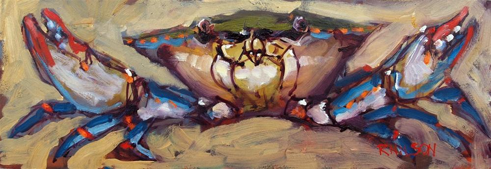 """It was this big crab"" original fine art by Rick Nilson"