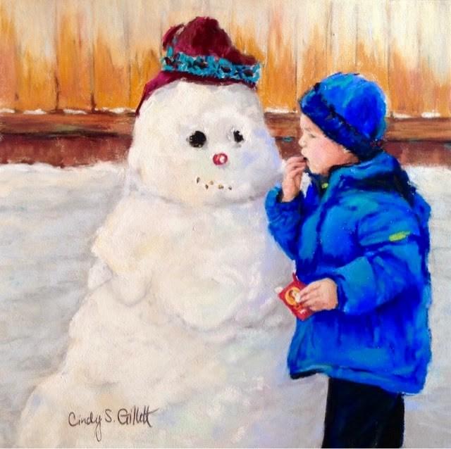 """""""Stolen Smile"""" original fine art by Cindy Gillett"""