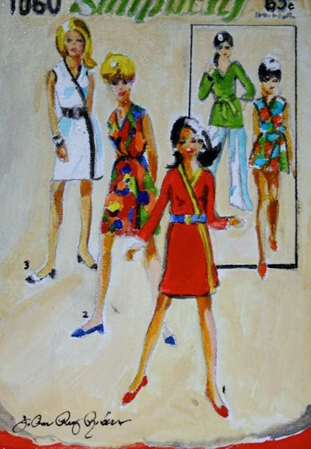 """Vintage '60"" original fine art by JoAnne Perez Robinson"