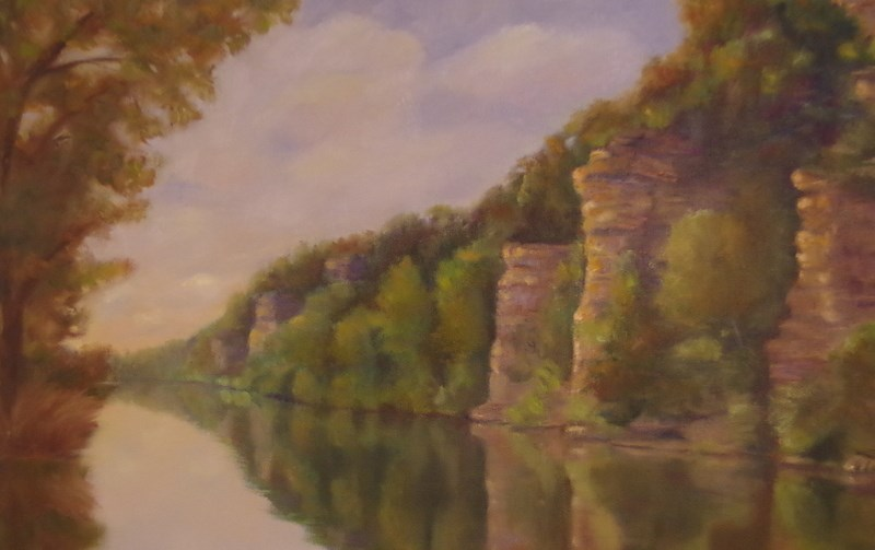 """""""Bluffs of the Harpeth"""" original fine art by Marilyn R. Place"""
