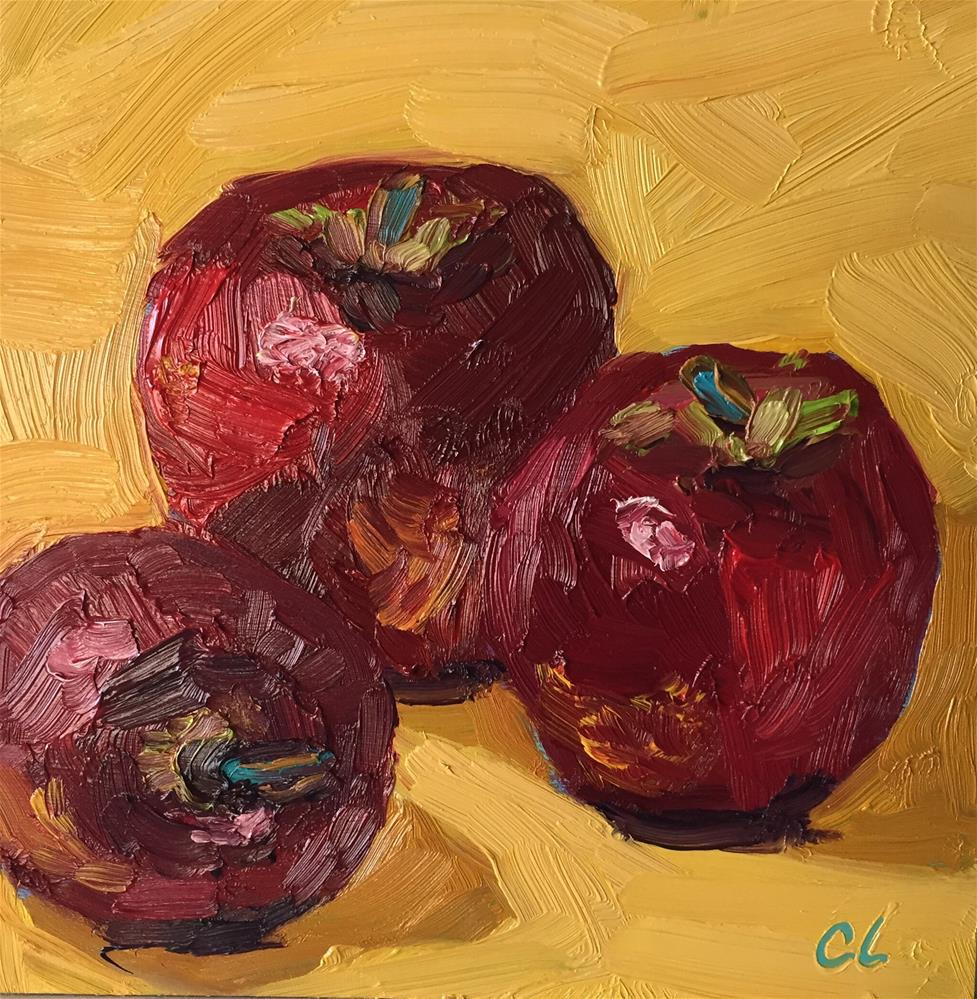 """Apples 3"" original fine art by Cheree Apalona Lueck"