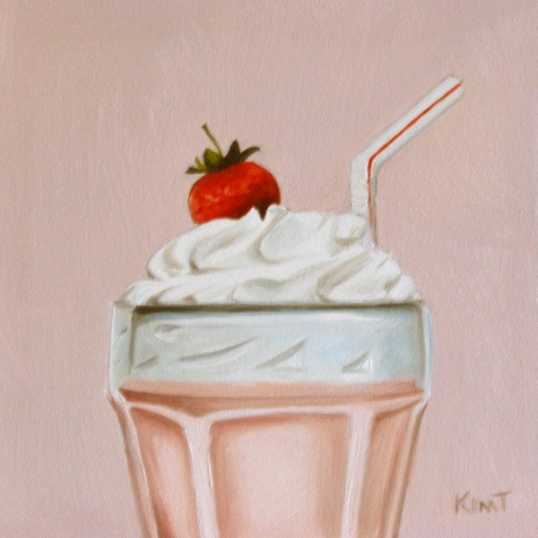 """Strawberry Shake"" original fine art by Kim Testone"