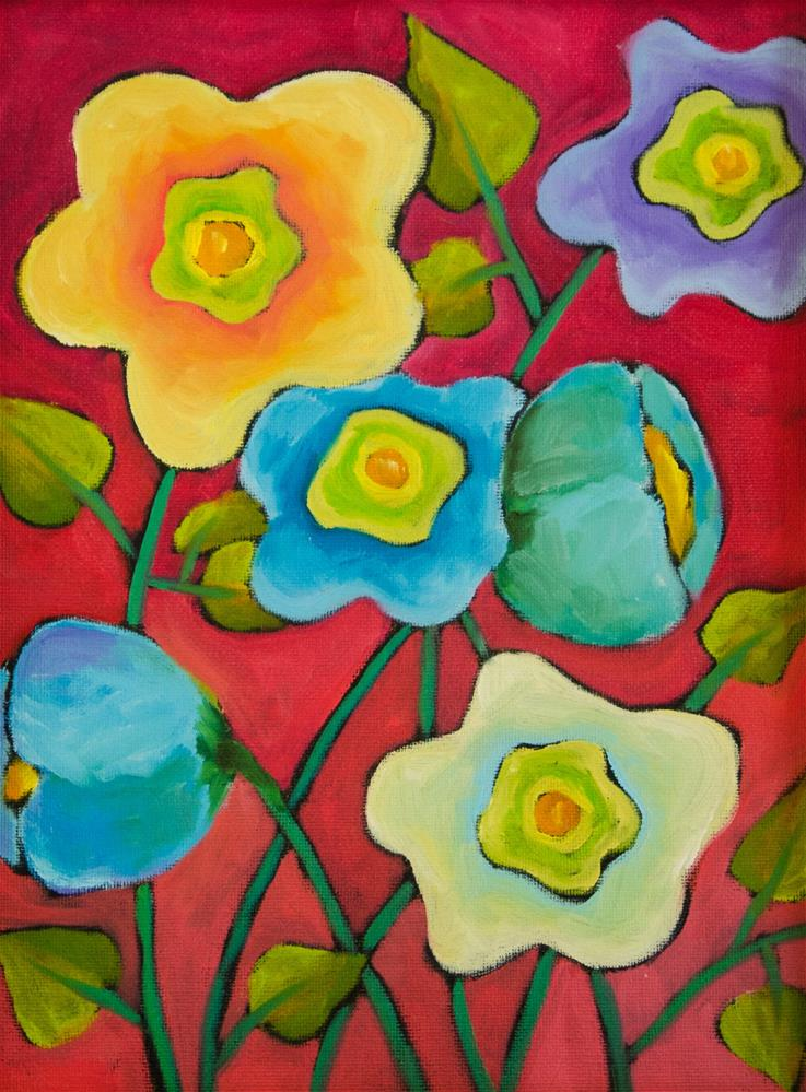 """Red Bloom"" original fine art by Susan Bertocci"