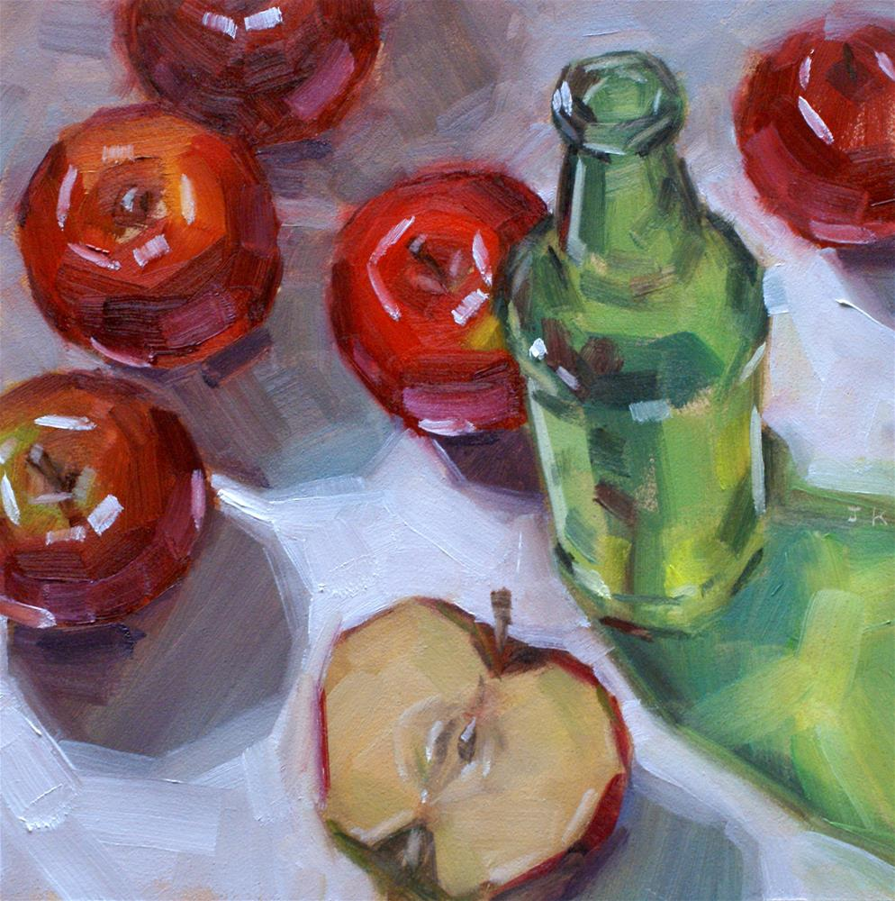 """'Green Glass Bottle'"" original fine art by Jiyoung Kim"