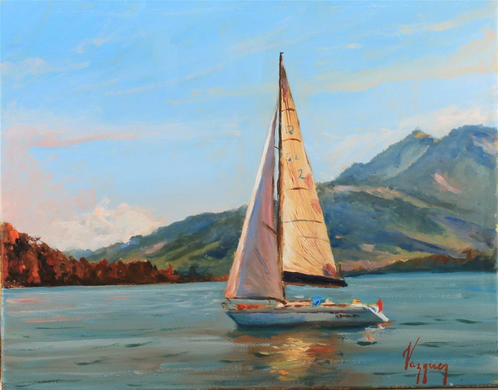 """""""Nautical"""" original fine art by Marco Vazquez"""