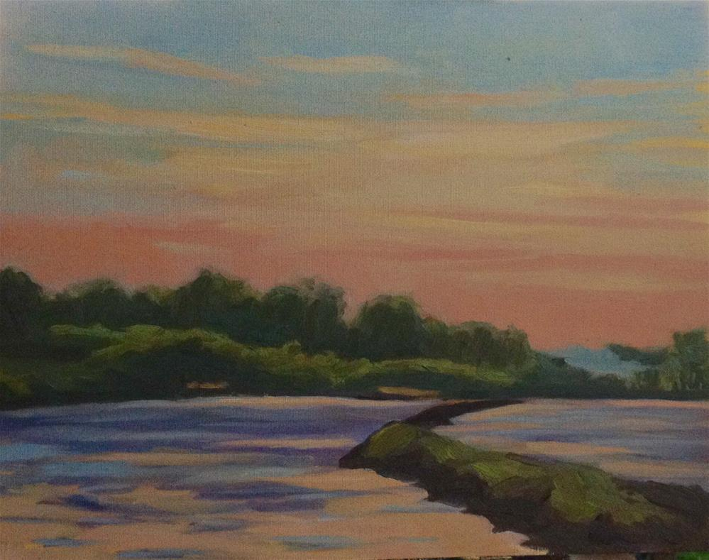 """Washington Sunset en Plein air"" original fine art by Daniel Fishback"
