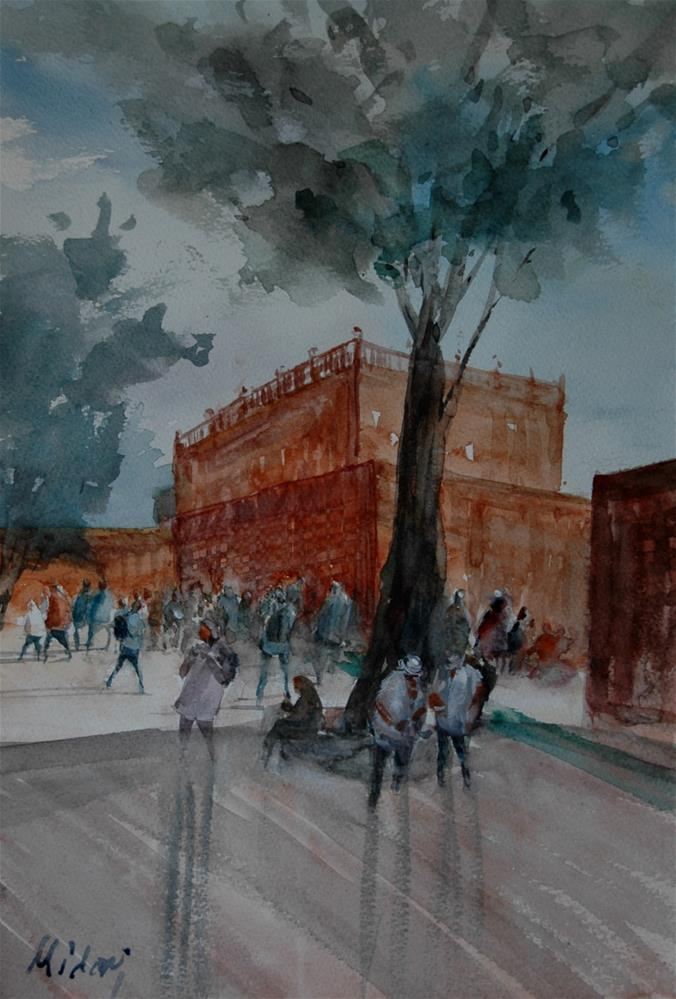"""Al Ain Palace Museum"" original fine art by Midori Yoshino"
