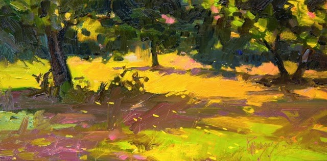 """Jeffri's Field  plein air. landscape painting by Robin Weiss"" original fine art by Robin Weiss"
