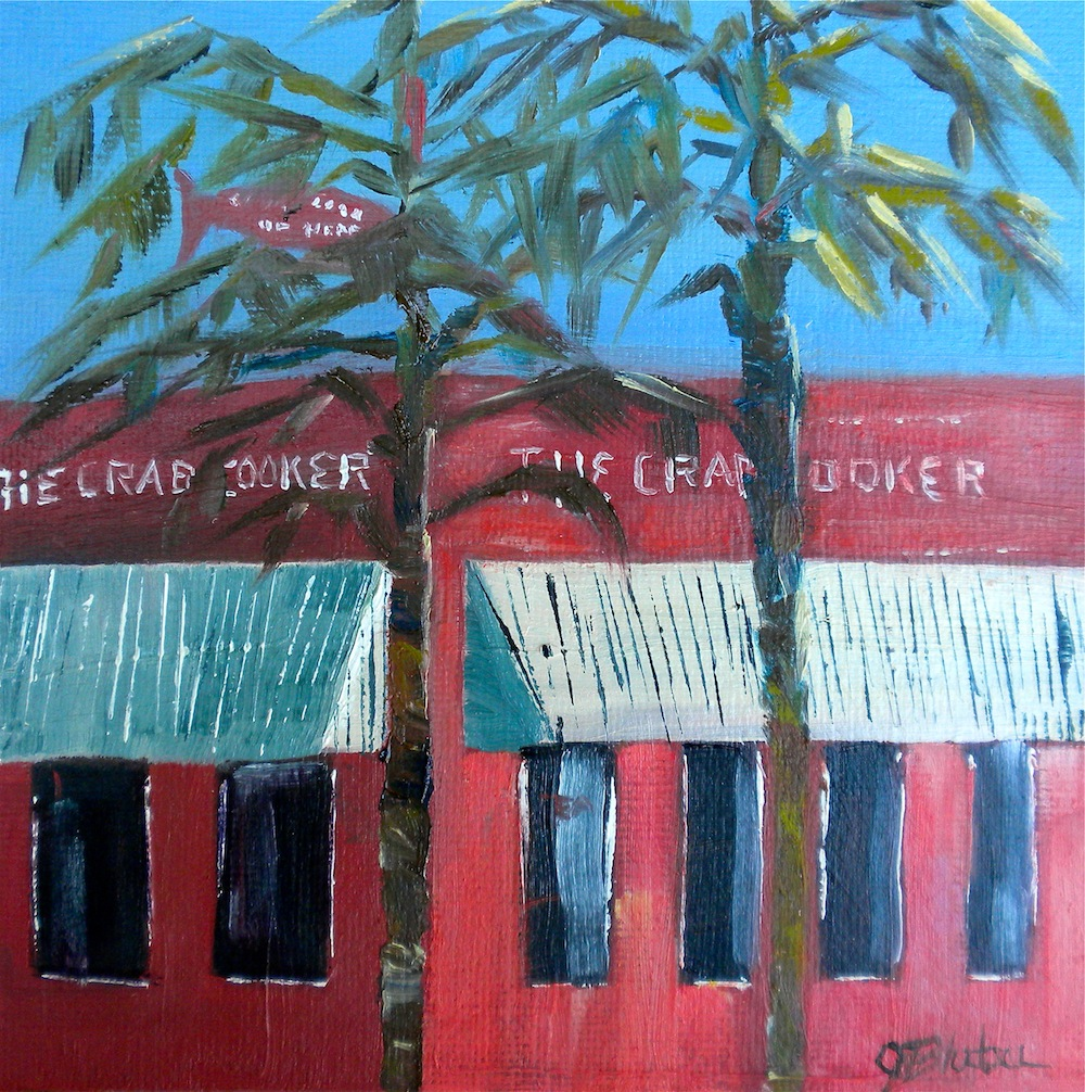 """""""Crab Cooker"""" original fine art by Janet Bludau"""