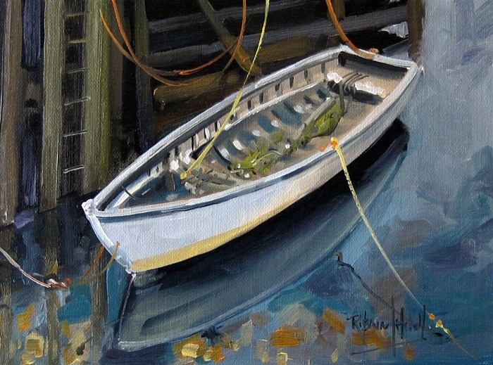 """No 807 All tied up"" original fine art by Robin J Mitchell"