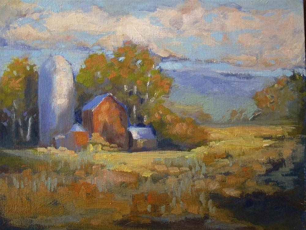 """Connecticut Field"" original fine art by Aurelio Saiz"