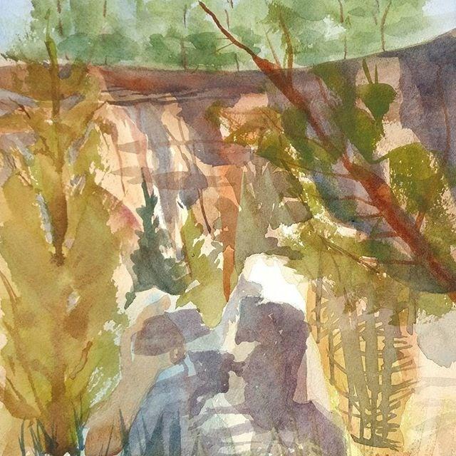 """Providence Canyon, Georgia"" original fine art by Maria Peagler"
