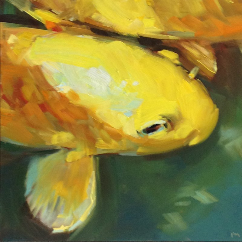 """The Gamboge Koi"" original fine art by Patti McNutt"