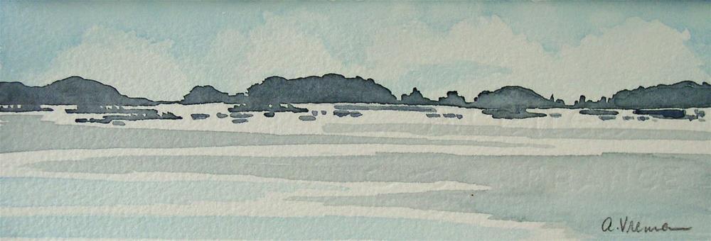 """""""Maine Islands"""" original fine art by Anna Vreman"""