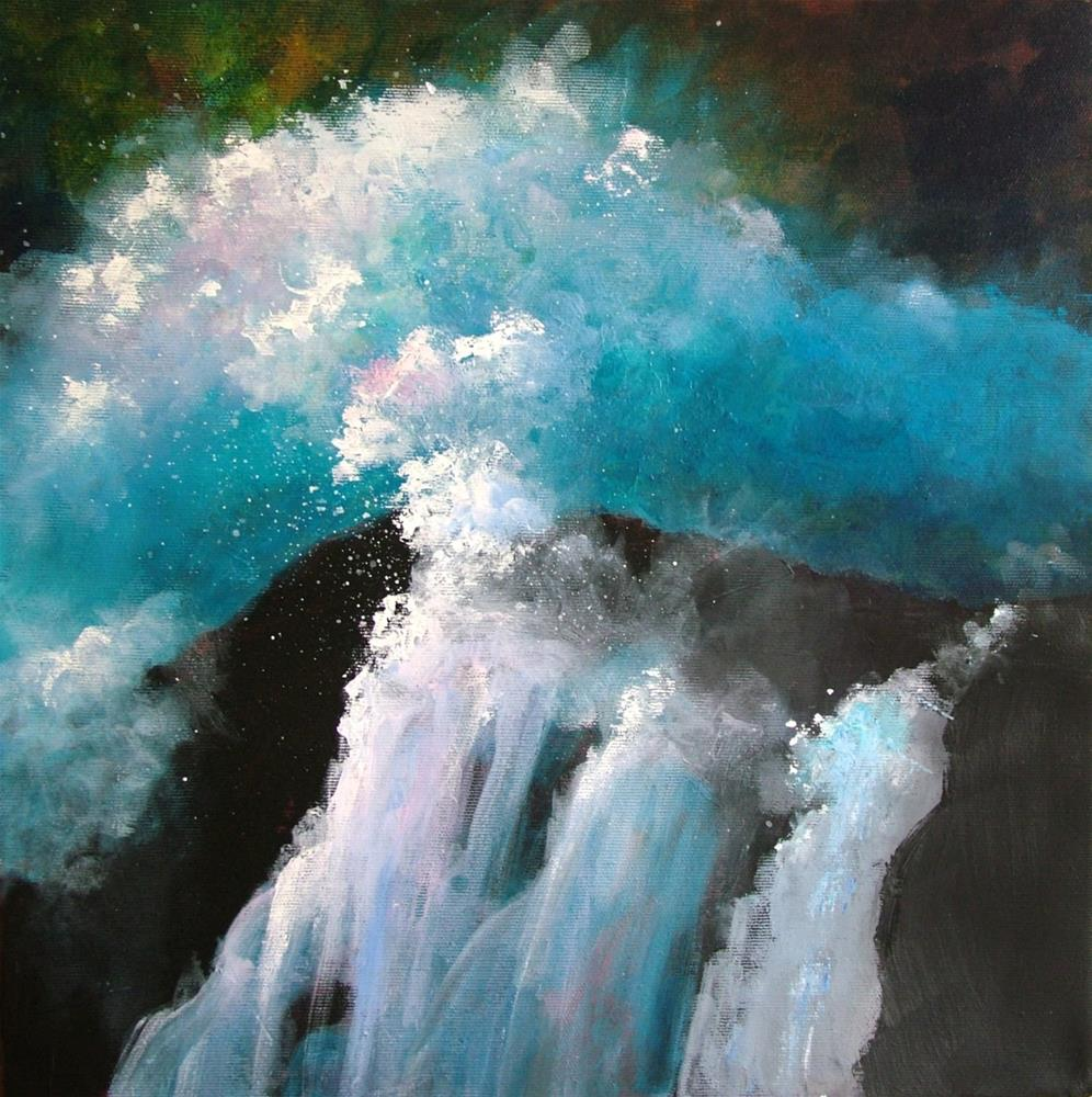 """Breaker"" original fine art by Christine Derrick"